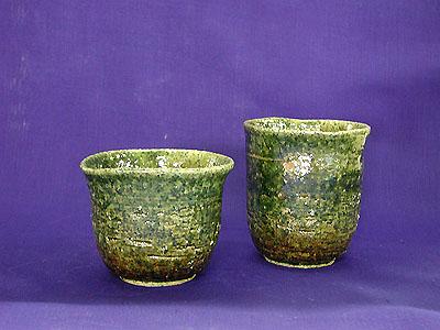 焼酎カップ 2 織部の写真