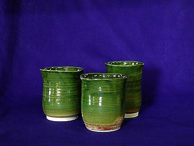 焼酎カップ 3織部の写真