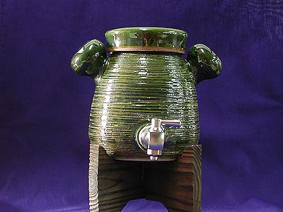 焼酎サーバー織部A(コルク栓付)の写真
