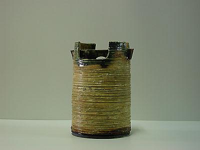 土手桶形花入(和風)の写真