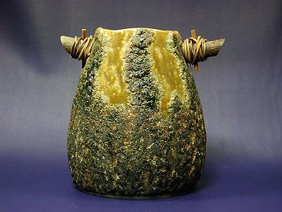 花器(松皮)の写真
